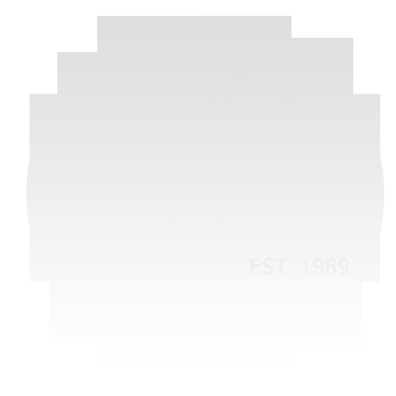 logo est 1989 transparent sticker-WHITE GRADIENT
